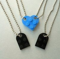 Lego Heart Couples Necklace $12.00