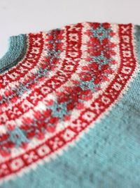 jumper with fair isle yoke