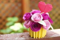 wow! origami bouquet cupcake