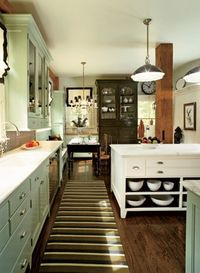 Green Grey Kitchens Cabinets