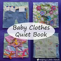 Fast & Easy Quiet Book Made from Baby Clothes