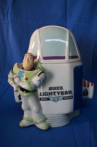 Buzz Lightyear to the rescue! He will protect those cookies for you.