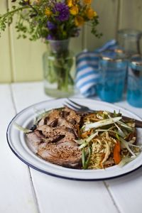 Asian Aromatic BBQ Summer Lamb with Tangy Sesame Salad! | DonalSkehan.com