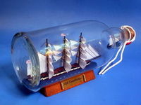 Handcrafted Model Ships USS Constitution Ship in a Bottle 11""