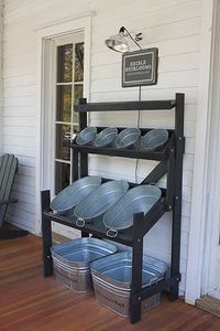 DIY -- Drink and snack storage for back yard parties... I actually just went to a gorgeous southern wedding that had these metal buckets placed all around with various types of beer and soda to help keep lines down at the bar... it was awesome - weddingsa...