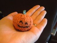 Pumpkin Pattern on straight needles---for Sarah to knit
