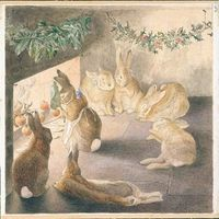 'Roasting Apples ~ The Rabbits Christmas Party' (1901)
