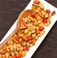 Baked Cannellini Beans with Potatoes and Carrots on http://www.wishfulchef.com