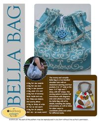 The Bella Bag Pattern! - The file is about 18 MB. The pattern costs $12.