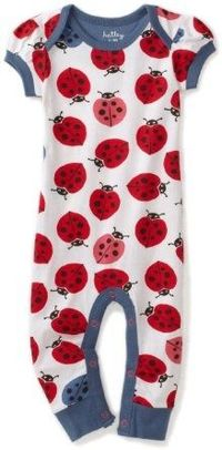 Hatley - Baby Girls Infant Nordic Bug Day Romper