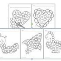 Fine Motor Skills Activity Bingo Dabber Pictures For Valentine's Day!-5 Worksheets can be copied for your students who need extra practice with their fine motor skills. repostned by SOS Inc. Resources. Follow all our boards at http://pinterest.com/sos...