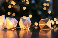 Paper cube string lights.