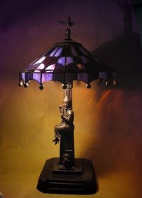 *HAUNTED MANSION ~ Stained Glass Lamp