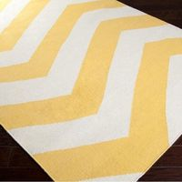 Rosita Rug in Sunshine Yellow.