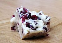 Cranberry Bliss bars - seriously better than Starbucks!