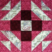 Free Quilt Patterns | Starwood Quilter: Christmas Star Quilt Block