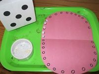 Roll and Cover Game from The Preschool Experiment