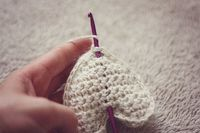 crochet heart pattern �™�.