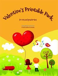 Free Valentine's printable pack for tots and preschoolers » Gift of Curiosity