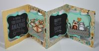 Accordion Album Made with Simon Says April Kit and Simon stamps.
