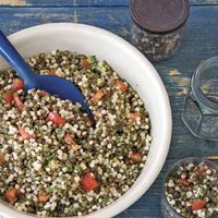lentil and couscous salad with mint (sounds similar to taboule)