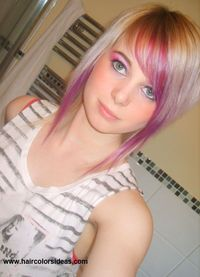 Blonde/Purple hair color idea