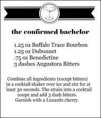The Confirmed Bachelor mixed drink recipe