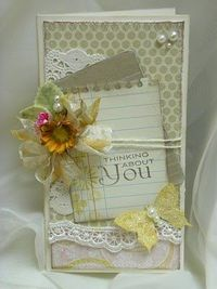 Beautiful Thinking Of You Card...Paper Wishes.