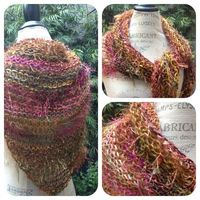NobleKnits Knitting Blog: Prism Stuff Easy One Skein Shawl Free Pattern