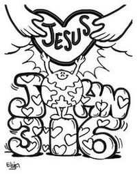 Boston chefs valentines day printable coloring pages ~ Posts similar to: John 3:16 Jesus Loves Me Coloring Page ...