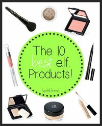 The best e.l.f. products! In case you didn't know, e.l.f. is a super affordable makeup brand that has such a huge selection of products it can be a little overwhelming. Blogger not only lists all of her favorites, but she also talks about why she love...