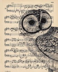 Use old sheet music papers to print on.