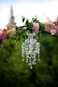 Bella Fiori - Chandelier on flower arch