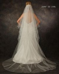Love this custom made chapel length bridal veil! JL Johnson Bridals V5311. For hundreds of fabulous veils, click here: http://www.affordableelegancebridal.com/bridal-veils.html