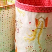 Collapsible Fabric Wastebasket - DIY- Click picture for tutorial