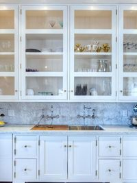 glass cabinets | bar area