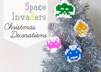 How To: Space Invaders Christmas Ornaments