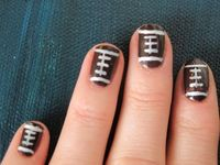 Football Designed Nails :)