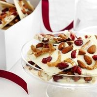 White Chocolate Bark with Pretzel Pieces