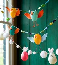 Easter Egg Animal Garland ~ Be Different...Act Normal