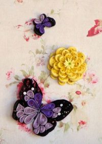 purple butterfly quilling
