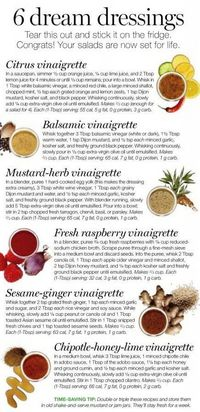 6 'dream' salad dressings