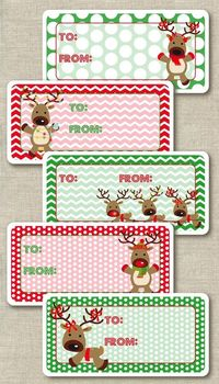 Holiday gift tag stickers are cute and convenient. #holiday #gifts