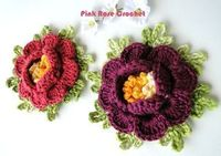 PINK ROSE CROCHET /: As Flores