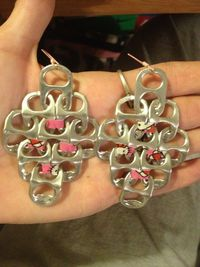 How to Make Chandelier Soda Tab Earrings