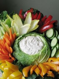 party food // veggie tray