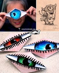 Combine with Dali project. Origami Cyclops Eye -