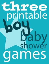 Expect Moore: Three Printable Boy Baby Shower Games