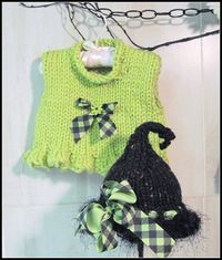 Ruffled Cropped Vest and Hat Knitted PDF Pattern by LaurelArts, $5.00