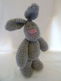 Crochet Bunny Auntie Burrows - PDF Pattern - Includes pattern for the rabbit AND her outfit.